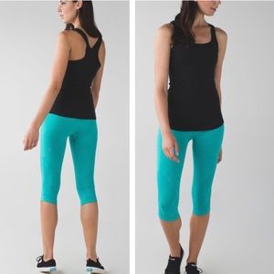 NWT! Lululemon In the Flow Crop II Heathered Teal